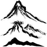 Mountain and volcano mountain. Royalty Free Stock Photos