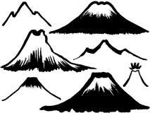 Mountain and volcano mountain. Royalty Free Stock Photo