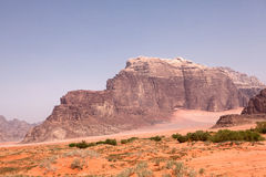 Mountain in Wadi Rum desert Stock Photos