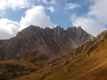 Mountain walking. Passo Colombe e Passo del Sole. Stock Photos