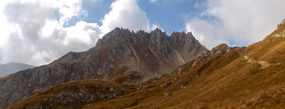Mountain walking. Passo Colombe e Passo del Sole. Royalty Free Stock Image