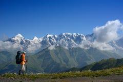 Mountain walking in summer Stock Image