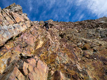 Mountain wall with steps Stock Photos