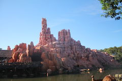 Mountain Wallpaper at Magic Kingdom. Photo of the Big Thunder Mountain at DisneyWorld Orlando Stock Photography