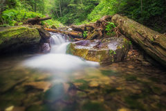 Mountain water stream Royalty Free Stock Photos
