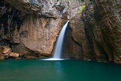 Mountain waterfall royalty free stock photo