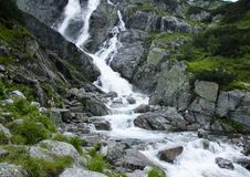 Mountain waterfall Royalty Free Stock Image
