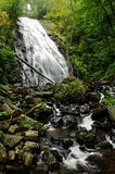 Mountain waterfall. Waterfall in the smoky mountains Royalty Free Stock Image