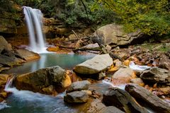 Mountain Waterfall along the Blackwater River Stock Images