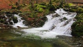 Mountain waterfall stock video
