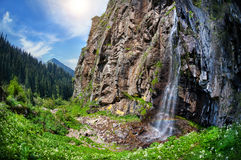 Mountain waterfall Royalty Free Stock Photo
