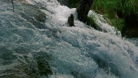 Waterfall close up stock video footage