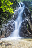 Mountain waterfall. In deep tropical forest Royalty Free Stock Photography