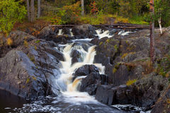 Mountain waterfall. fast stream water Royalty Free Stock Image