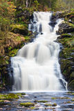 Mountain waterfall. fast stream water Royalty Free Stock Photography