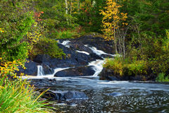Mountain waterfall. fast stream water Stock Images
