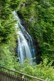 Mountain waterfall in Highlands, Drumnadrochit Stock Photos