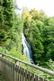 Mountain waterfall in Highlands, Drumnadrochit Royalty Free Stock Photo