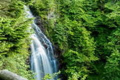 Mountain waterfall in Highlands, Drumnadrochit Stock Photography