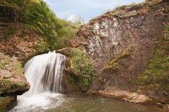 Mountain waterfall, in Karachay Cherkessia, Russian Federation View of mount. Mountain waterfall, in Karachay Cherkessia, Russian Federation. View of mount royalty free stock image