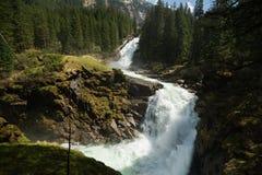 Mountain waterfall Krimml Royalty Free Stock Photos