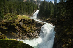 Mountain waterfall Krimml Royalty Free Stock Photos