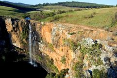 Mountain Waterfall Landscape. Image of the Berlin waterfalls in South Africa Royalty Free Stock Photo