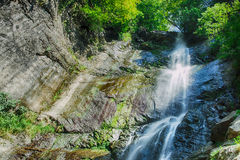 Mountain waterfall landscape Royalty Free Stock Photography