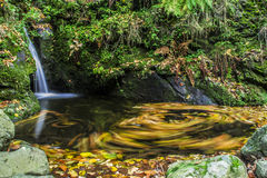 Mountain waterfall Royalty Free Stock Images