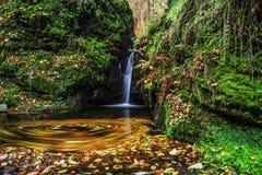 Mountain waterfall. In late Autumn Stock Photography