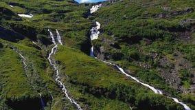 Mountain waterfall located near Geiranger Fjord, Norway stock photos