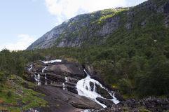 Mountain waterfall in Norway Royalty Free Stock Photography