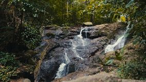 A mountain waterfall stock video footage