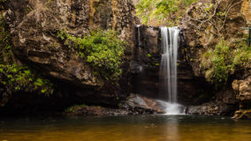 Mountain and silk Waterfall Stock Photography