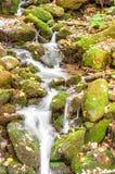Mountain waterfall. Royalty Free Stock Photos
