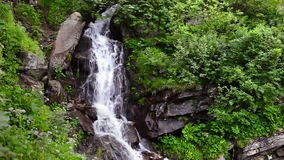 Mountain waterfall stock footage