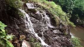 Mountain waterfall in the tropical stock video