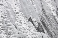 Mountain waterfall in winter Stock Photos