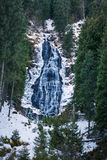 Mountain waterfall on winter Royalty Free Stock Images