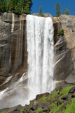 Mountain waterfall in Yosemite Royalty Free Stock Images