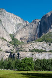 Mountain waterfall in Yosemite Royalty Free Stock Photography