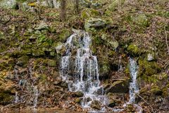 Mountain Waterfalls in Goshen Pass. Mountain Waterfalls located in Goshen Pass located in Jefferson National Forest in Rockbridge County, Virginia, USA Royalty Free Stock Photos