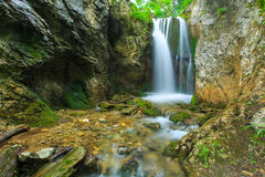 Mountain waterfalls in the Transylvanian Alps Stock Images