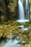 Mountain waterfalls in the Transylvanian Alps Royalty Free Stock Image