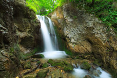 Mountain waterfalls in the Transylvanian Alps Royalty Free Stock Photo