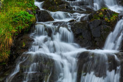 Mountain waterfalls in the Transylvanian Alps Royalty Free Stock Photos