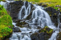 Mountain waterfalls in the Transylvanian Alps Stock Photo