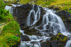 Mountain waterfalls in the Transylvanian Alps Royalty Free Stock Photography