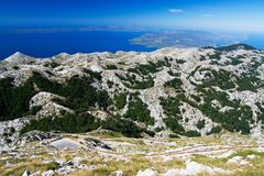 The mountain way in Bikovo Royalty Free Stock Images
