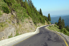 Mountain way curves Stock Images